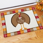 Welcome Turkey Personalized Thanksgiving Doormats